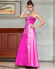 Column Sweetheart Floor-length Chiffon Rhinestone Prom Dresses