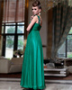 Column Sweetheart One Shoulder Floor-length Chiffon Embroidery Prom Dresses