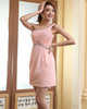 Sheath One Shoulder Short Chiffon Sequin Ruched Homecoming Dresses