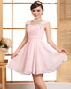 A-line Straps Mini Chiffon Rhinestone Homecoming Dresses