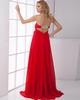 A-line Sweetheart Brush Train Chiffon Beading Evening Dresses