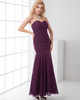 Mermaid Sweetheart Strapless Floor-length Chiffon Tiered Prom Dresses
