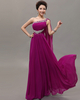 A-line One Shoulder Floor-length Chiffon Crystal Beading Prom Dresses