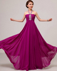 A-line Halter Floor-length Chiffon Crystal Tiered Prom Dresses