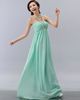 Column Halter Floor-length Chiffon Draped Tiered Evening Dresses
