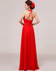 A-line Halter Floor-length Chiffon Crystal Sequin Prom Dresses