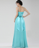 A-line Spaghetti Straps Floor-length Chiffon Flower Evening Dresses