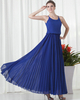 A-line Scoop Ankle-length Chiffon Draped Evening Dresses