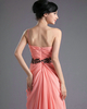 Column One Shoulder Floor-length Chiffon Beading Sequin Prom Dresses