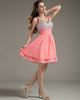 A-line V-neck Short Chiffon Sequin Beading Homecoming Dresses