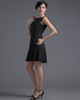A-line Bateau Short Chiffon Crystal Homecoming Dresses