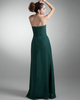 Column Sweetheart Strapless Floor-length Chiffon Evening Dresses