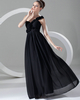 Column One Shoulder Floor-length Chiffon Flower Evening Dresses