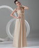 Column One Shoulder Floor-length Chiffon Flower Draped Evening Dresses