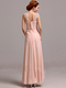 Column Round Brought Ankle-length Chiffon Beading Evening Dresses With Appliques