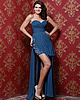 Marvelous Sheath/Column Chiffon Sweetheart, Strapless Split Front Evening Dresses