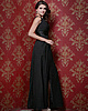 Outstanding A-line Stretch Satin Floor-length Split Front Evening Dresses