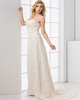 Over Hip Sweetheart Brush Train Side-draped Lace Evening Dresses