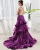 Brilliant Princess Organza Tube Top Split Front Evening/Prom Dresses
