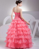 Elegant Ball Gown Organza Strapless Beading Evening/Prom Dresses