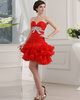 Gorgeous Princess Organza Short/Mini Bowknot Sweet 16 Dresses