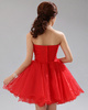 A-line Tube Top Short Organza Sequin Rhinestone Homecoming Dresses