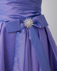 A-line Sweetheart Knee-length Organza Bowknot Homecoming Dresses