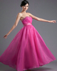 A-line Sweetheart Ankle-length Organza Beading Sequin Prom Dresses