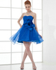 A-line Sweetheart Strapless Short Organza Flower Cocktail Dresses
