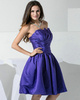 Pure Color Classic A-line Satin Scalloped-edge Tiered Cocktail Dresses