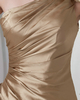 Sheath One Shoulder Floor-length Satin Side-draped Evening Dresses