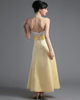 A-line Tube Top Strapless Ankle-length Satin Flower Prom Dresses