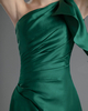 Column One Shoulder Short Satin Side-draped Prom Dresses