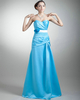 A-line Sweetheart Floor-length Satin Flower Sashes Prom Dresses