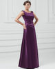A-line Bateau Straps Floor-length Satin Side-draped Evening Dresses