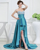 Marvelous A-line Stretch Satin Asymmetrical Train Beading Prom Dresses