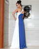 Column One Shoulder Floor-length Stretch Satin Flower Prom Dresses