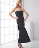 Mermaid Tube Top Ankle-length Taffeta Bowknot Evening Dresses
