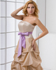 A-line Tube Top Floor-length Taffeta Pick-Ups Sashes Prom Dresses