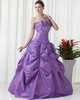 Ball Gown Scalloped-edge Floor-length Taffeta Sequin Quinceanera Dresses