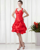 Princess Sweetheart Knee-length Taffeta Pick-Ups Cocktail Dresses
