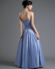 A-line Sweetheart Floor-length Taffeta Beading Sequin Prom Dresses
