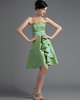 A-line Sweetheart Strapless Short Taffeta Tiered Homecoming Dresses