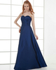 A-line Strapless Floor-length Taffeta Tiered Evening Dresses