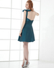 A-line One Shoulder Short Taffeta Bowknot Cocktail Dresses