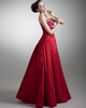 Column Strapless Floor-length Taffeta Beading Sequin Prom Dresses