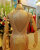 Mermaid Jewelry High Neck Sweep Train Tulle Crystal Semi Transparent Backless Prom Dresses