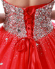 Ball Gown Strapless Floor-length Tulle Crystals And Rhinestones Bodice Quinceanera Dresses