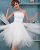 Princess Tube Top Mini Tulle Beading Ruffle Homecoming Dresses