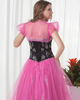 A-line Sweetheart Floor-length Tulle Short Sleeve Beading Prom Dresses With Jacket
